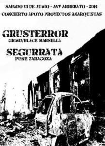GRUSTERROR + SEGURRATA @ SALA ARREBATO | Zaragoza | Aragón | España