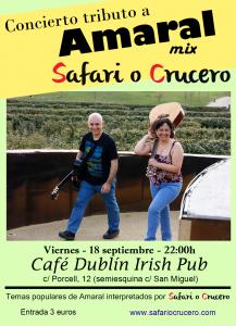 SAFARI O CRUCERO @ CAFE DUBLIN | Zaragoza | España