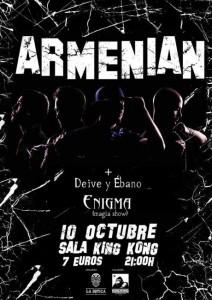 ARMENIAN + DEIVE & ÉBANO @ Sala King Kong | Zaragoza | Aragón | España
