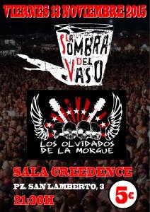 LA SOMBRA DEL VASO + LOS OLVIDADOS DE LA MORGUE @ SALA CREEDENCE | Zaragoza | Aragón | España