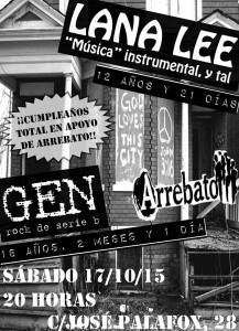 GEN + LANA LEE @ AVV ARREBATO  | Zaragoza | Aragón | España