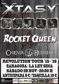 XTASY + CHEMA HERRERO + ROCKET QUEEN @ LA LEY SECA  | Zaragoza | Aragón | España