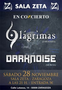 DARKNOISE + 9 LÁGRIMAS @ SALA ZETA | Zaragoza | Aragón | España