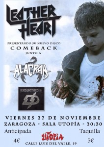 LEATHER + ALACRÁN + ENDISCORDIA @ UTOPÍA SALA  | Zaragoza | Aragón | España