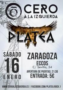 CERO A LA IZQUIERDA + PLATEA @ PUB ECCOS | Zaragoza | Aragón | España