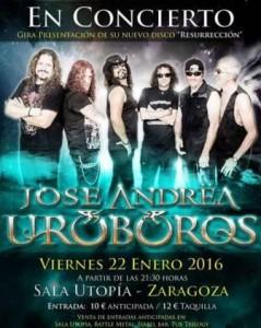 JOSE ANDRËA Y URÓBOROS @ SALA UTOPÍA | Zaragoza | Aragón | España