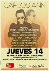 CARLOS ANN @ EL POETA ELÉCTRICO | Zaragoza | Aragón | España