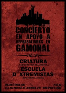 CRIATURA + ESCUELA D´XTREMISTAS @ CSO KIKE MUR  | Zaragoza | Aragón | España