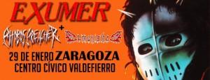 EXUMER + PHOBOS PREACHER + DEMONISHED @ CENTRO CIVICO VALDEFIERRO | Zaragoza | Aragón | España