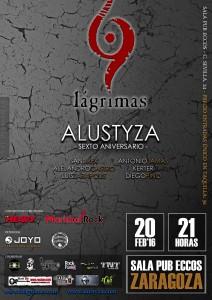 9 LAGRIMAS + ALUSTYZA @ PUB ECCOS | Zaragoza | Aragón | España