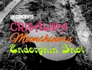 CRISÁLIDA, MOONSHINERS Y ENDORPHIN SHOT