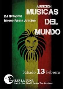 AUDICION MUSICAS DEL MUNDO EN LA LUNA @ BAR LA LUNA | Zaragoza | Aragón | España