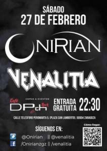 ONIRIAN + VENALITIA @ Pub DPCH ROCK | Zaragoza | Aragón | España