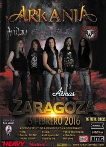 ARKANIA + MIDNIGHT MINUET + ARIDAY + WURDALAK @ LAS ARMAS | Zaragoza | Aragón | España