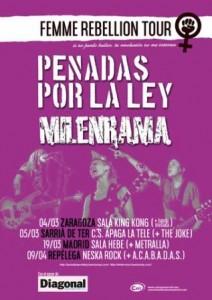 PENADAS POR LA LEY + MILENRAMA @ SALA KING KONG | Zaragoza | Aragón | España