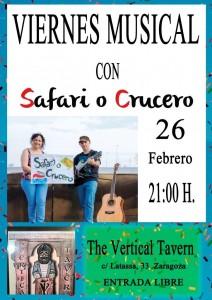 SAFARI O CRUCERO @ The vertical Tavern | Zaragoza | Aragón | España