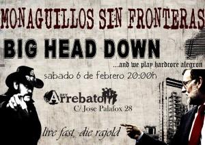 MONAGUILLOS SIN FRONTERAS + BIG HEAD DOWN @ AVV ARREBTO | Zaragoza | Aragón | España