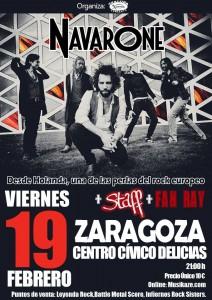 NAVARONE + STAFF + FAN RAY @ CENTRO CIVICO DELICIAS | Zaragoza | Aragón | España