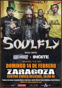 SOULFLY + KING PARROT + INCITE @ CENTRO CIVICO DELICIAS | Zaragoza | Aragón | España