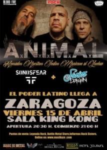 A.N.I.M.A.L. + SONOSFEAR + SWIM TO DROWN @ SALA KING KONG | Zaragoza | Aragón | España