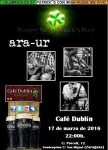 ARA UR @ CAFE DUBLIN | Zaragoza | Aragón | España