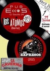 LOS ÁTOMOS + LOS EXPRESOS @ PUB ECCOS  | Zaragoza | Aragón | España