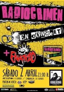 RADIOCRIMEN + ENATIZO @ SALA KING KONG | Zaragoza | Aragón | España