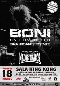 BONI + MALOS TRAGOS @ SALA KING KONG | Zaragoza | Aragón | España