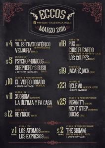 PUX + CHUS BUCARDO + LOS COUPÉS @ PUB ECCOS   Zaragoza   Aragón   España