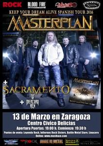 MASTERPLAN + SACRAMENTO + MERCURY REX @ CENTRO CÍVICO VALDEFIERRO | Zaragoza | Aragón | España