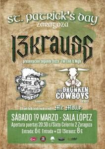 13 KRAUS + LOS DRUNKEN COWBOYS + SONS OF O' FLAHERTY @ SALA LÓPEZ | Zaragoza | Aragón | España