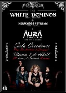 THE WHITE DOMINOS + AURA LIMITE + HERMANOS PETRELLI @ SALA CREEDENCE | Zaragoza | Aragón | España