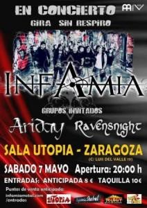 INFAMIA + ARIDAY + RAVENSNIGHT @ UTOPÍA | Zaragoza | Aragón | España