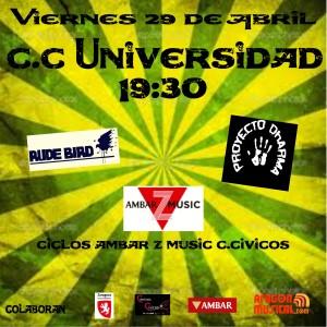 RUDE BIRD + PROYECTO DHARMA @ CENTRO CÍVICO UNIVERSIDAD | Zaragoza | Aragón | España