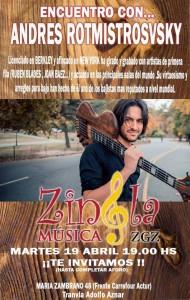 ANDRES ROTMISTROSVSKY @ ZINGLA MUSICA | Zaragoza | Aragón | España