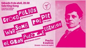 POLPOT + CROCÓPULOS + WARSONG + EL GRAN PUZZLE COZMICO @ SALA KING KONG | Zaragoza | Aragón | España