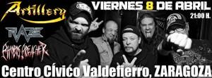 ARTILLERY + RAZE + PHOBOS PREACHER @ CENTRO CIVICO VALDEFIERRO | Zaragoza | Aragón | España