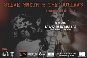 STEVE SMYTH + THE OUTLAWS @ LA LATA DE BOMBILLAS | Zaragoza | Aragón | España