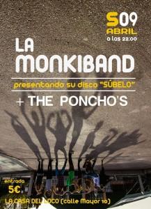LA MONKIBAND + THE PONCHO´S @ LA CASA DE LOCO | Zaragoza | Aragón | España
