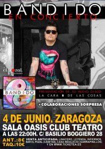 BANDIDO @ OASIS CLUB TEATRO | Zaragoza | Aragón | España