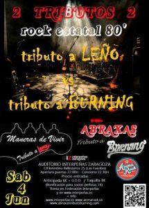 TRIBUTO A LEÑO Y BURNING @ SALA AUDITORIO INTERPEÑAS | Zaragoza | Aragón | España