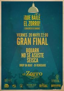 FINAL I CONCURSO DE BANDAS ¡QUE BAILE EL ZORRO! @ PUB EL ZORRO | Zaragoza | Aragón | España