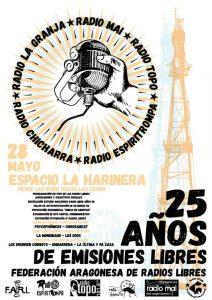ANIVERSARIO 25 AÑOS DE LA FEDERACION ARAGONESA DE RADIOS LIBRES @ HARINERA ZGZ | Zaragoza | Aragón | España