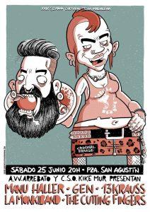 MANU HALLER + GEN + 13 KRAUSS + LA MONKIBAND + THE CUTTING FINGERS @ PLAZA SAN AGUSTIN | Zaragoza | Aragón | España