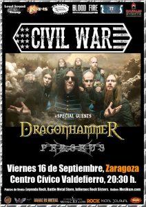 CIVIL WAR + DRAGON HAMMER + PERSEUS @ CENTRO CIVICO VALDEFIERRO | Zaragoza | Aragón | España
