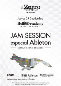 JAM SESSION ABLETON & MUSICIAN @ EL ZORRO | Zaragoza | Aragón | España