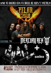 MERCURY REX + UMBRA @ LA LEY SECA | Zaragoza | Aragón | España