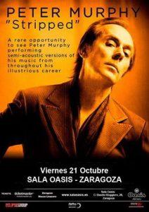 PETER MURPHY @ OASIS | Zaragoza | Aragón | España
