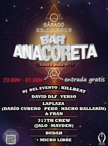 NOCHE DE RAP @ ANACORETA | Zaragoza | Aragón | España