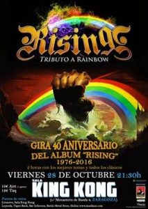 RISING @ SALA KING KONG | Zaragoza | Aragón | España